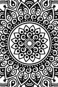 Vector image of Indian Mandala for cutting plotter and engraving.