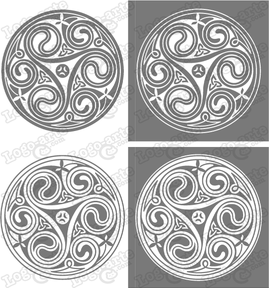 Vector images of Celtic triskel available for download.