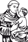 Vector image of Saint Anthony of Padua.