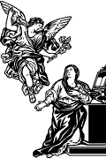 Vector image of The Annunciation for cutting plotter and engraving