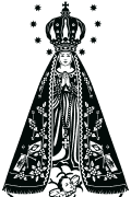 Vector Image of Our Lady of Aparecida of Brasil for plotter.
