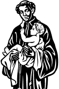Vector image of Saint Benedict the Moor for plotter.