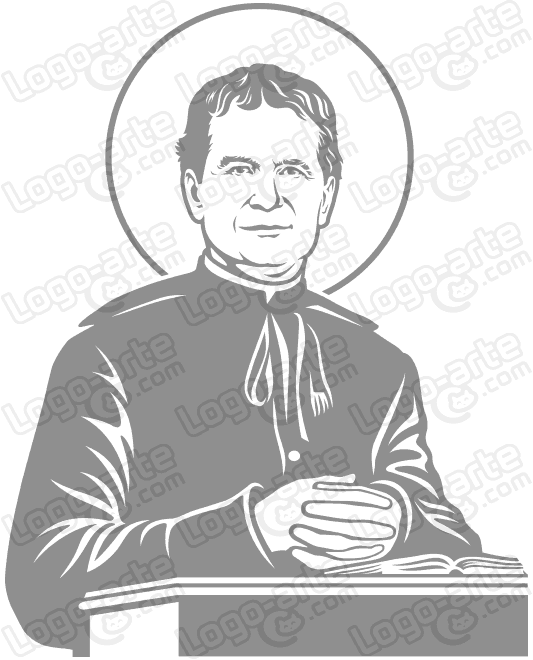 Image of Saint John Bosco vectorized for cutting plotter, engraving and printing.