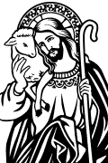 Vector Image of The Good Shepherd for cutting plotter and sandblasting.