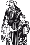 Vector image of St. Joseph Calasanz for plotter.