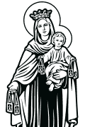 Vector Image of Our Lady of Mount Carmel for plotter.
