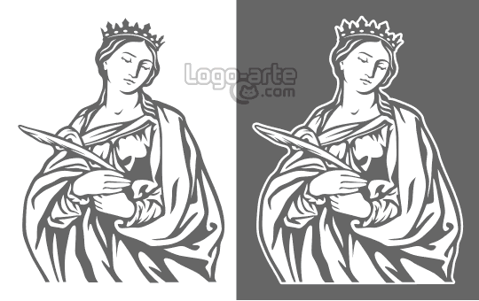 Vector images of St. Catherine of Alexandria available for download.