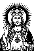 Vector image of Christ the King for cutting plotter and printing.