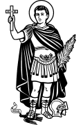 Vector image of Saint Expeditus for cutting plotter, engraving and printing