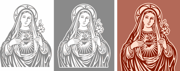 Vector images of Immaculate Heart of Mary available for download.