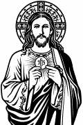 Vector image of Jesus the Bread of Life.