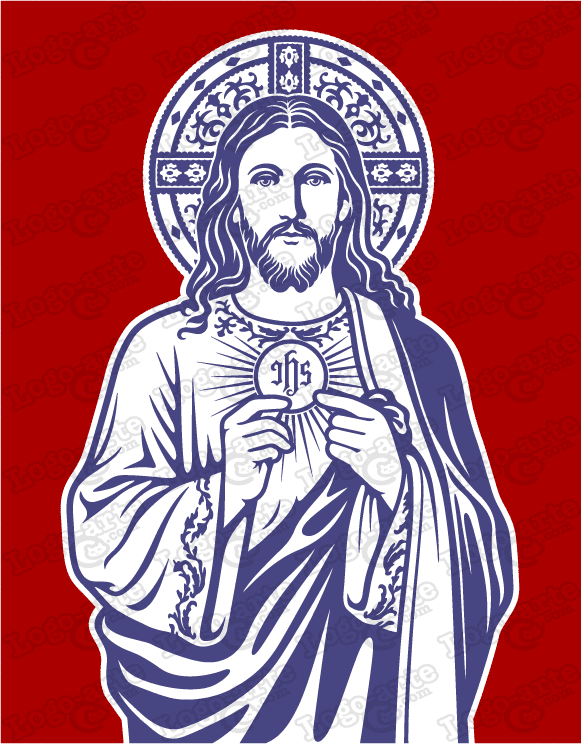 Vector image of Jesus the Bread of Life, for cutting plotter and engraving.