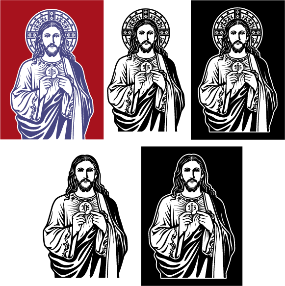 Vector images of Jesus the Bread of Life available for download.