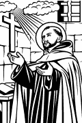 Vector image of Saint John of the Cross for cutting plotter and engraving
