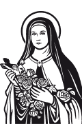 Vector image of St. Therese of Lisieux.