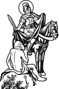 Vector image of St. Martin of Tours for plotter.