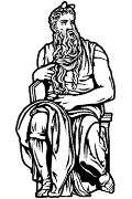 Vector image of Moses by Michelangelo for cutting plotter and engraving