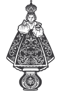 Vector of Holy Infant Jesus of Prague for plotter.