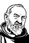 Vector image of Padre Pio for sandblast.