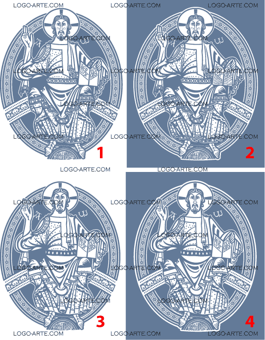 Vector images of Christ Pantocrator available for download.