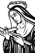 Vector image of St. Rita of Cascia for plotter.