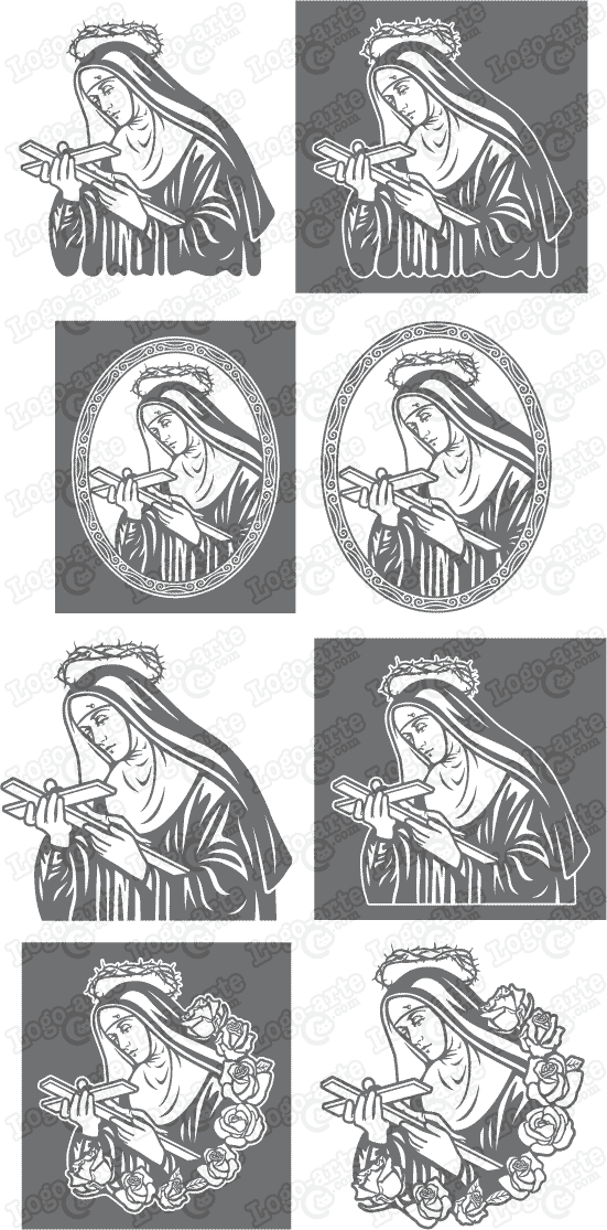 Vector images of Saint Rita of Cascia, available for download.