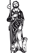 Vector image of St. Roch for cutting plotter and sandblasting.