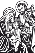Vector image of The Holy Family for plotter.
