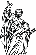 Vector image of Saint Peter for cutting plotter and engraving