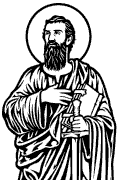 Vector image of Saint Paul for cutting plotter and engraving