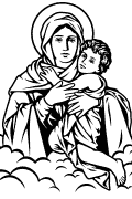 Vector image of Our Lady of Schoenstatt for cutting plotter and engraving