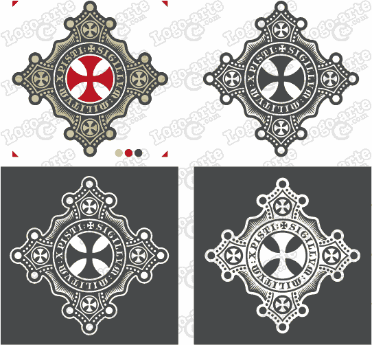 Vector images of the Cross of the Templars available for download.