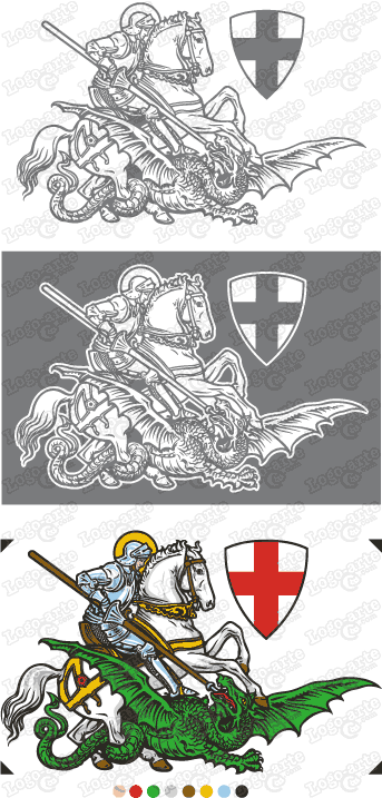 Vector images of Saint George available for download.