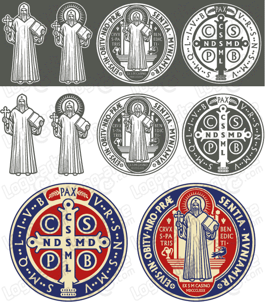 Vector images of St. Benedict's Medal available for download.