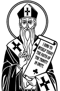 Vector image of St. Patrick. St. Patrick in vector format for cutting plotter. Religious vector images. Christian vector art.