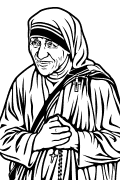 Vector image of Mother Teresa of Calcutta.