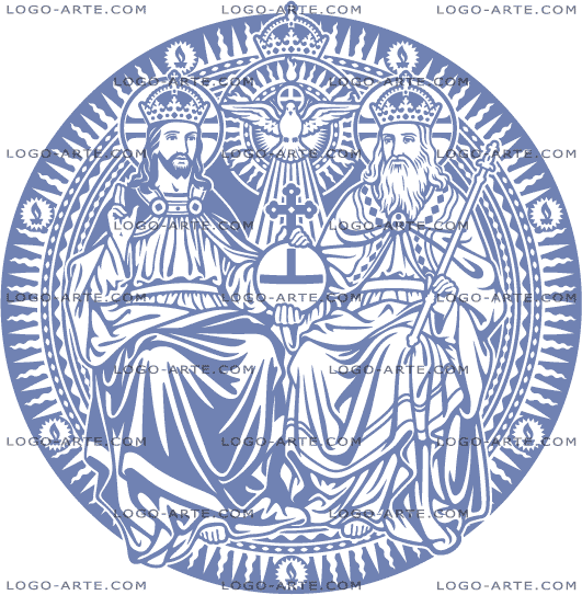 Vector image of the Holy Trinity for cutting plotter and engraving.