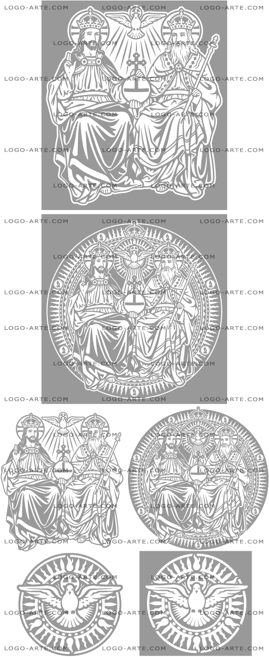 Vector images of the Holy Trinity available for download.