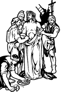 Traditional Station 10: Jesus is stripped of his clothes.