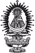 Vector image of Our Lady of Tejeda for cutting plotter.