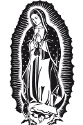 Vector image of Our Lady of Guadalupe. Our Lady of Guadalupe in vector format for cutting plotter.