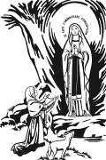 Vector image of Our Lady of Lourdes. Our Lady of Lourdes in vector format for cutting plotter. Vector christian plotter
