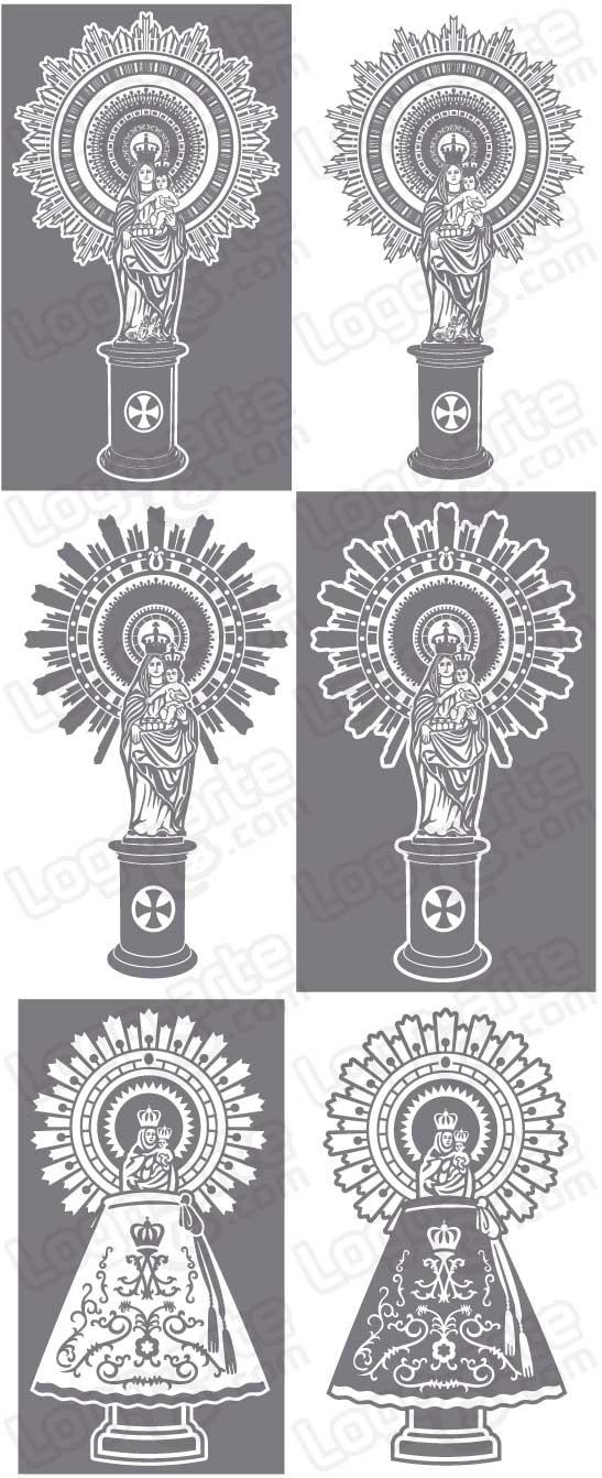 Vector images of Our Lady of the Pillar available for download.