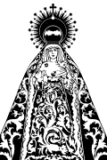 Vector image of Virgen Esperanza de Triana. Virgen de Triana in vector format for cutting plotter. Religious images vectorized.