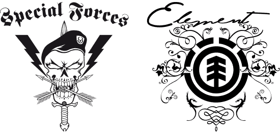Vectorization of gothic and baroque images in B&W for use in any graphic system.