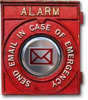 Alarm, send email in case of emergency